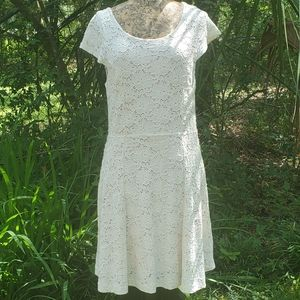Anthropologie Cream Lace Dress, Large